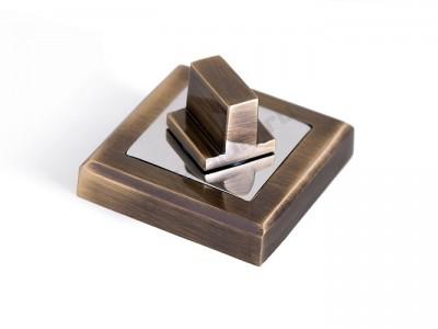 Сантехническая завертка квадратная Античная бронза