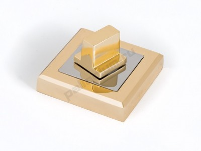 Сантехническая завертка квадратная Полированное золото