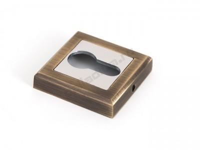 Накладка под цилиндр квадратная Античная бронза