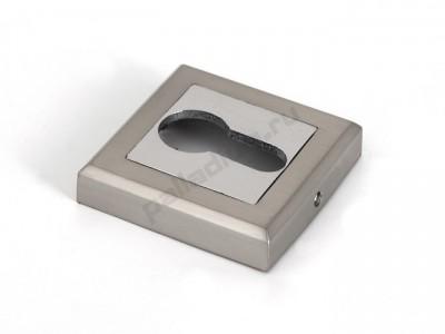 Накладка под цилиндр квадратная Матовый никель