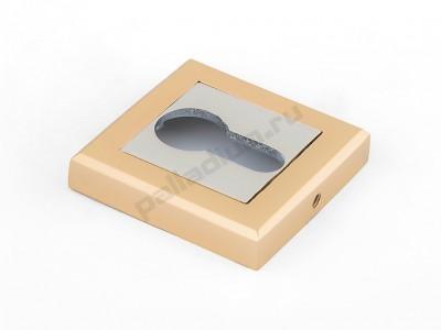Накладка под цилиндр квадратная Полированное золото
