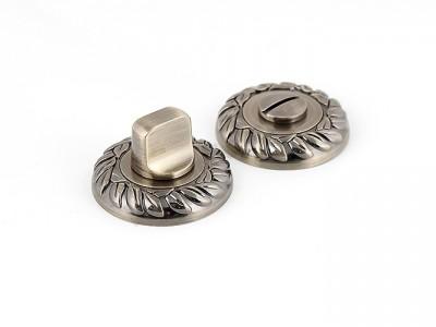 Сантехническая завертка круглая Античная бронза