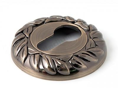 Накладка под цилиндр круглая Античная бронза