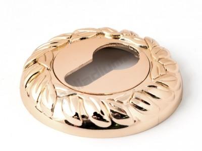 Накладка под цилиндр круглая Полированное золото