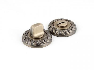 Сантехническая завертка круглая Матовая бронза