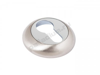 Накладка под цилиндр круглая Матовый никель